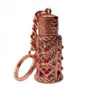 Сувенирный флакон для духов с кольцом на цепочке