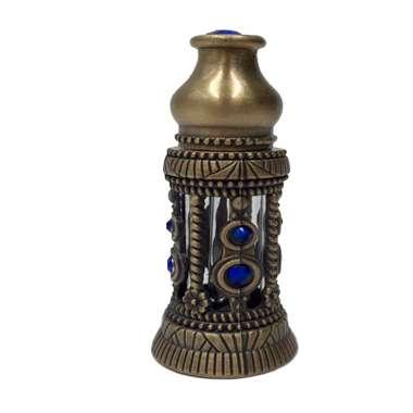 Сувенирный флакон для духов с синими камнями