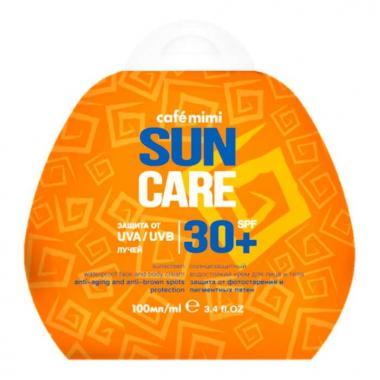 Солнцезащитный водостойкий крем для лица и тела  CafeMIMI SPF30+ 100 мл.