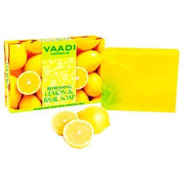 "Мыло ""Освежающий лимон и базилик"" 75 гр."