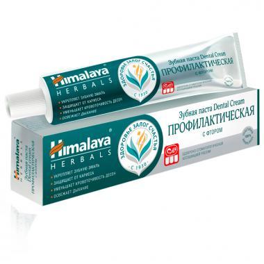 Зубная паста профилактическая с фтором Dental Cream Himalaya 100 гр.