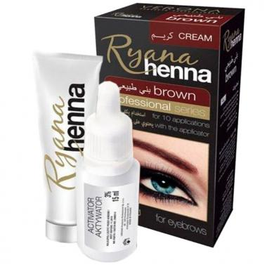 Ryana Henna Brown cream для бровей 15 мл