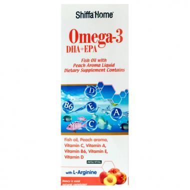 Рыбий жир с фруктовым вкусом для детей Omega-3 Shiffa Home 100 мл.